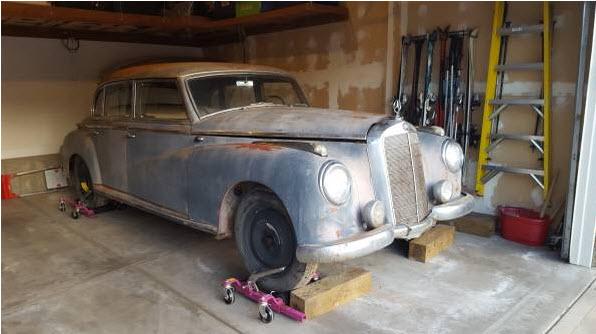Mercedes 300 Adenauer Barnfind 1953 39k 11