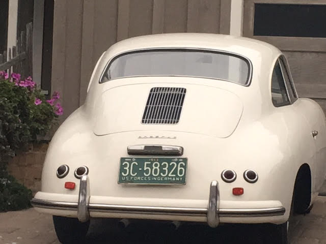 porsche 356 old and new great license plate