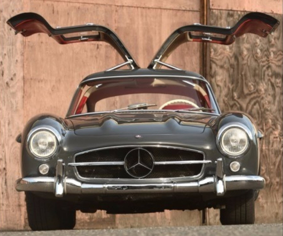 1955 Mercedes 300SL Gullwing With Factory Rudge Wheels