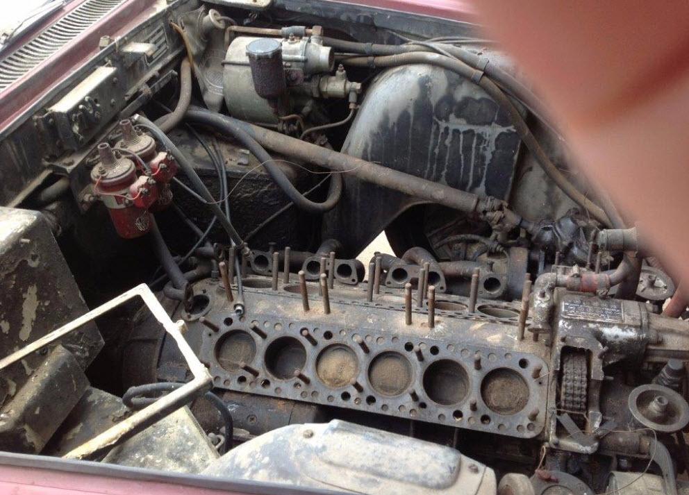 dirtyoldcars.com 1963 Ferrari 250 GTE Series 3 Found in New York 9