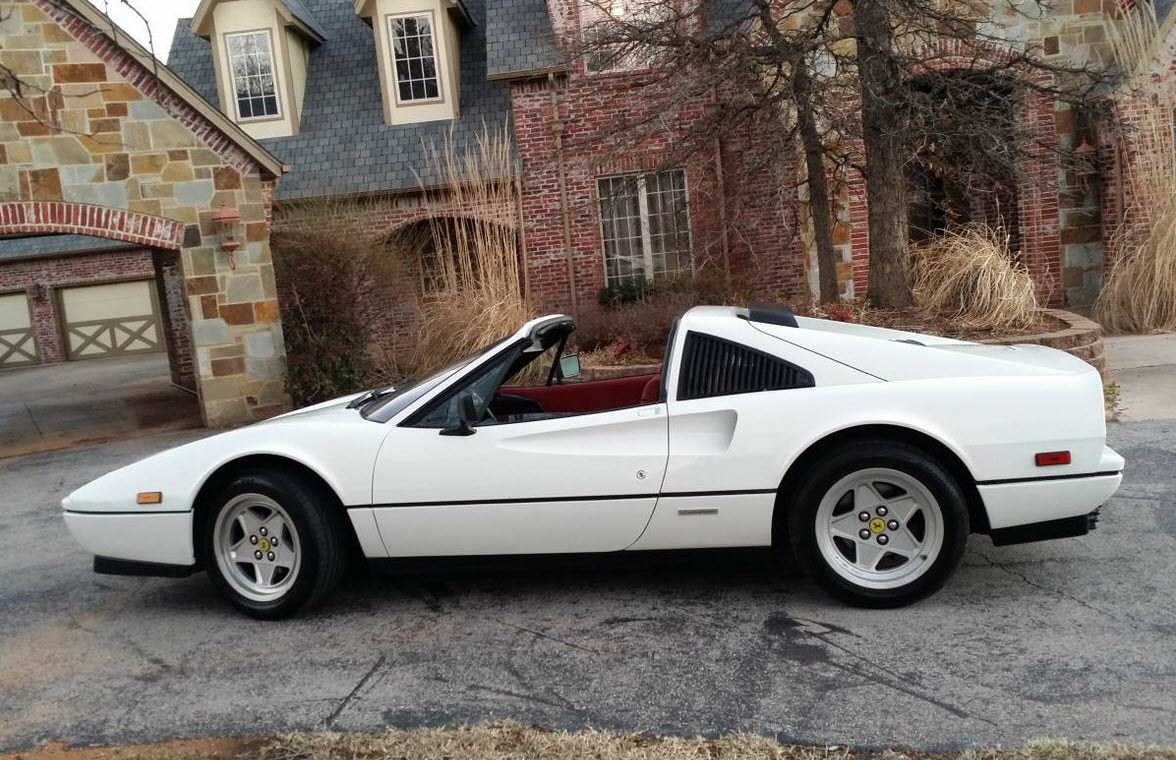 dirtyoldcars.com White 1987 Ferrari 328 GTS Found in Edmond Oklahoma 11