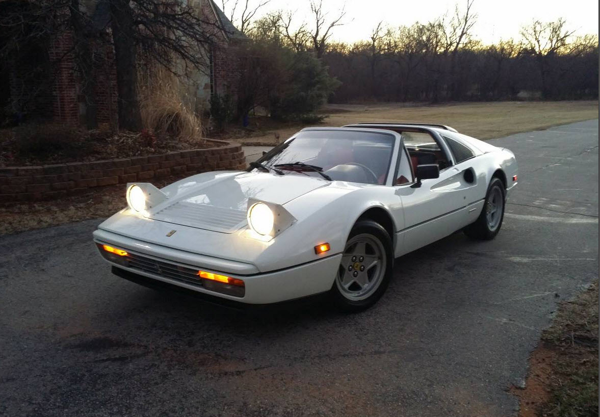 dirtyoldcars.com White 1987 Ferrari 328 GTS Found in Edmond Oklahoma 12