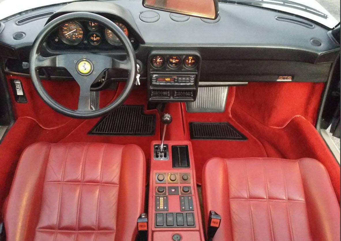 dirtyoldcars.com White 1987 Ferrari 328 GTS Found in Edmond Oklahoma 5