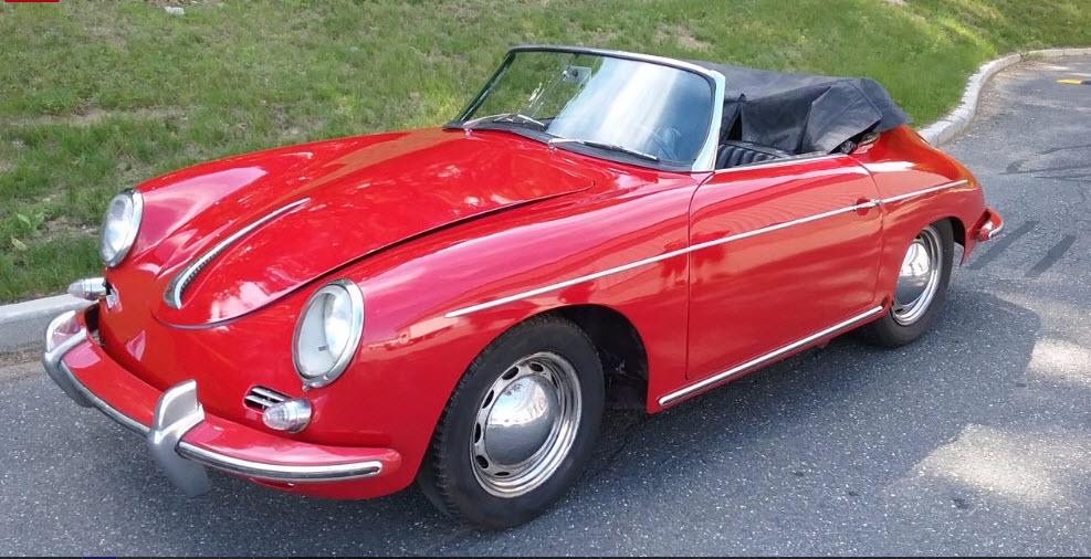 dirtyoldcars.com 1960 Porsche 356 Roadster Found in New York Red Black Interior Non Matching Engine 7