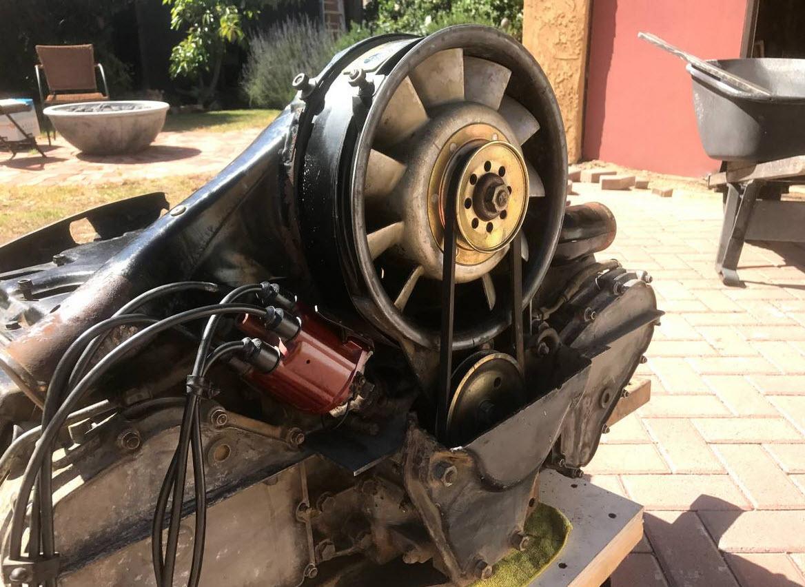 dirtyoldcars.com 2.0 911T Porsche Engine and 901 Transmission Found in Glendale California 8