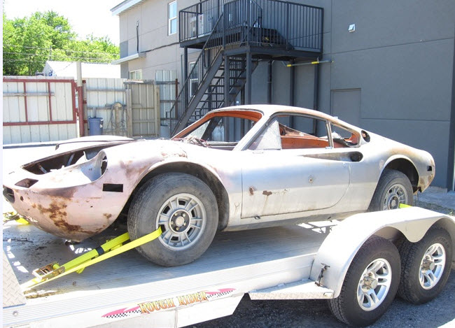 dirtyoldcars.com 1972 Ferrari Dino 246 GT Project Found 9