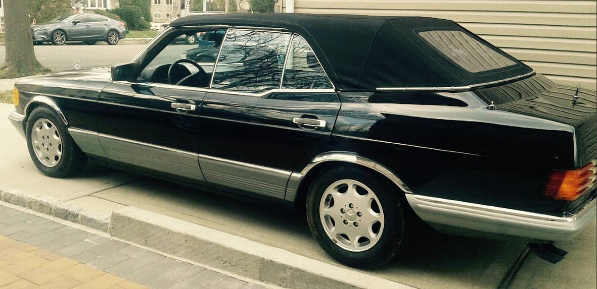 dirtyoldcars.com 1984 Mercedes 500SEL Convertible Caruna Conversion Found in New York 10