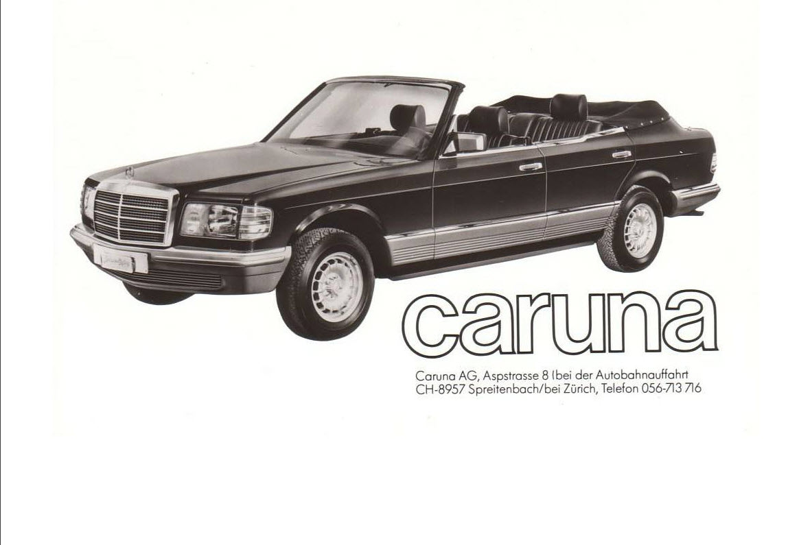dirtyoldcars.com 1984 Mercedes 500SEL Convertible Caruna Conversion Found in New York 1