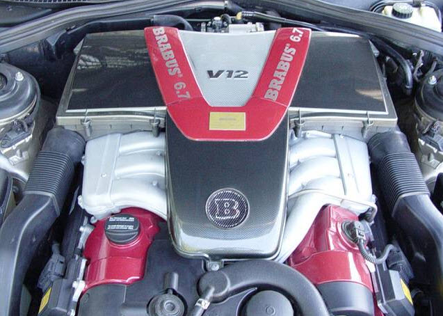 dirtyoldcars.com 2001 Mercedes S600 Brabus V12 Engine Found in Los Angeles 3