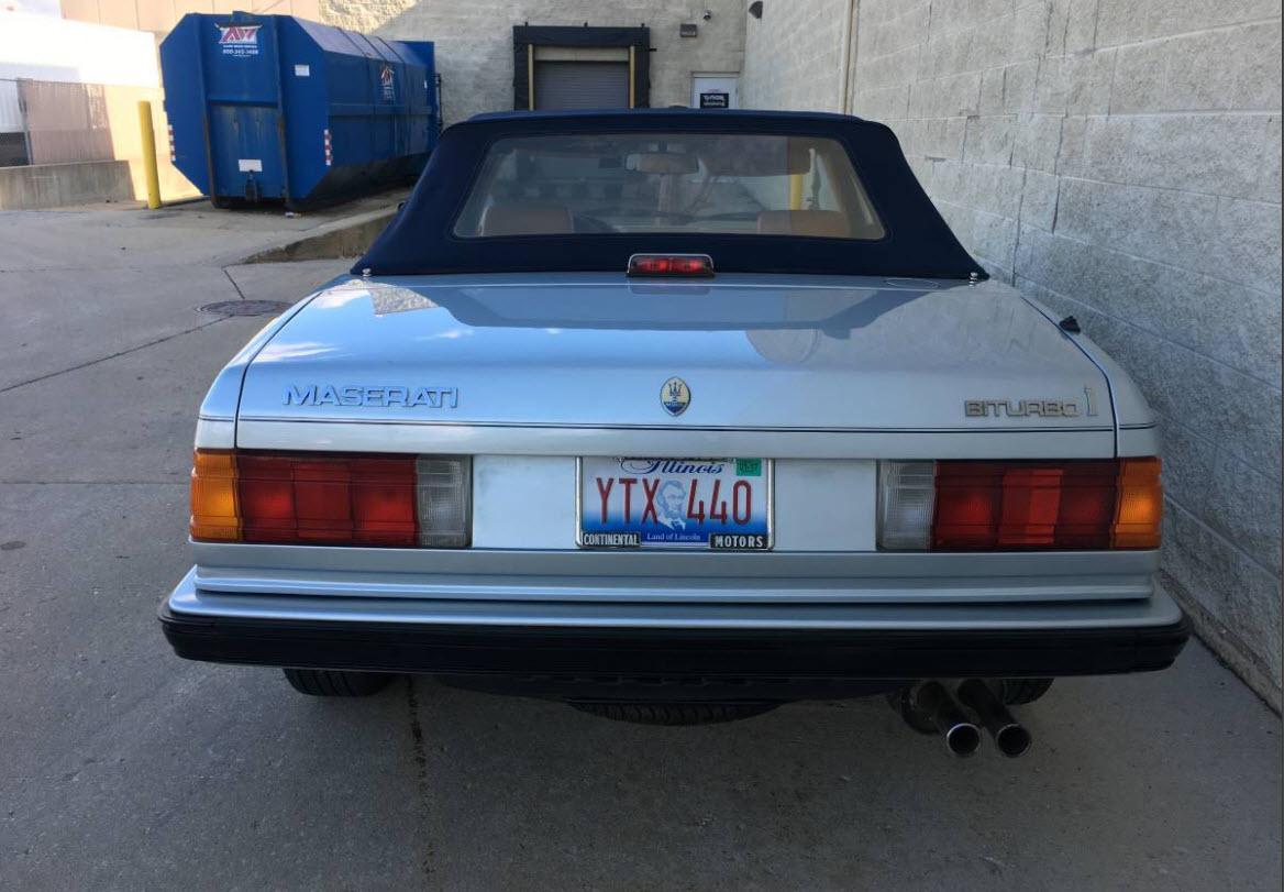 dirtyoldcars.com   1987 Maserati Spyder Biturbo Found in Chicago    5
