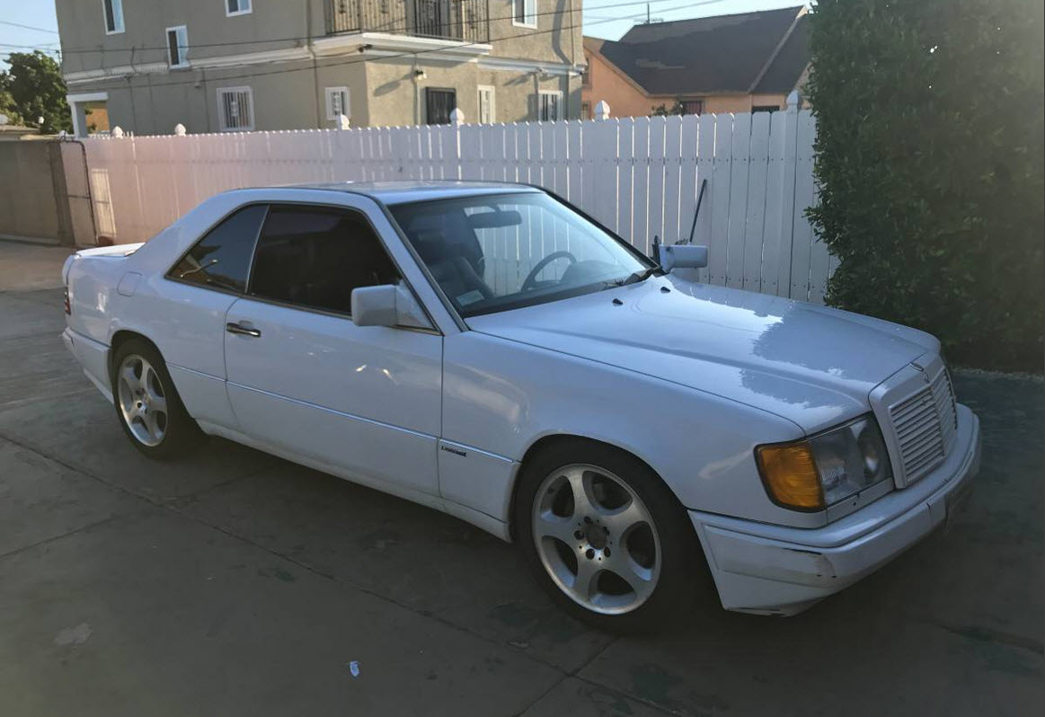 dirtyoldcars.com  1991 Mercedes 300CE White AMG Found in Los Angeles California  1