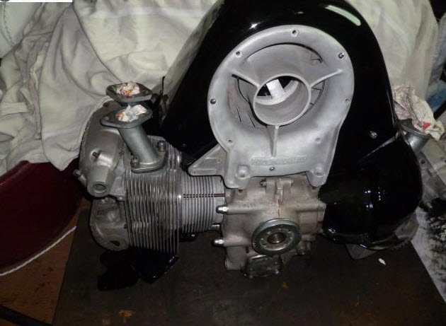 dirtyoldcars.com 1956 Porsche 356 Carrera GS Engine Found in Vicenza Italy 4