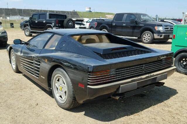 dirtyoldcars.com 1988 Ferrari Testarossa Flood Damage 6