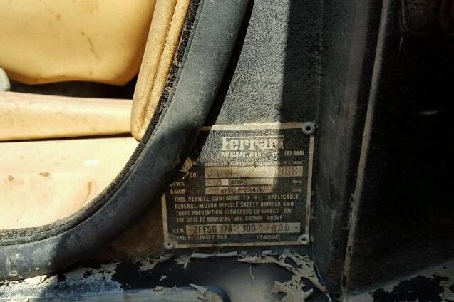 dirtyoldcars.com 1988 Ferrari Testarossa Flood Damage 1