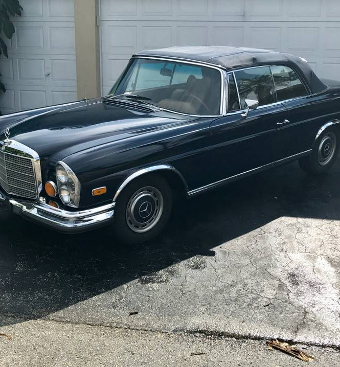 dirtyoldcars.com 1970 Mercedes 280SE Convertible Conversion Found in Florida 5