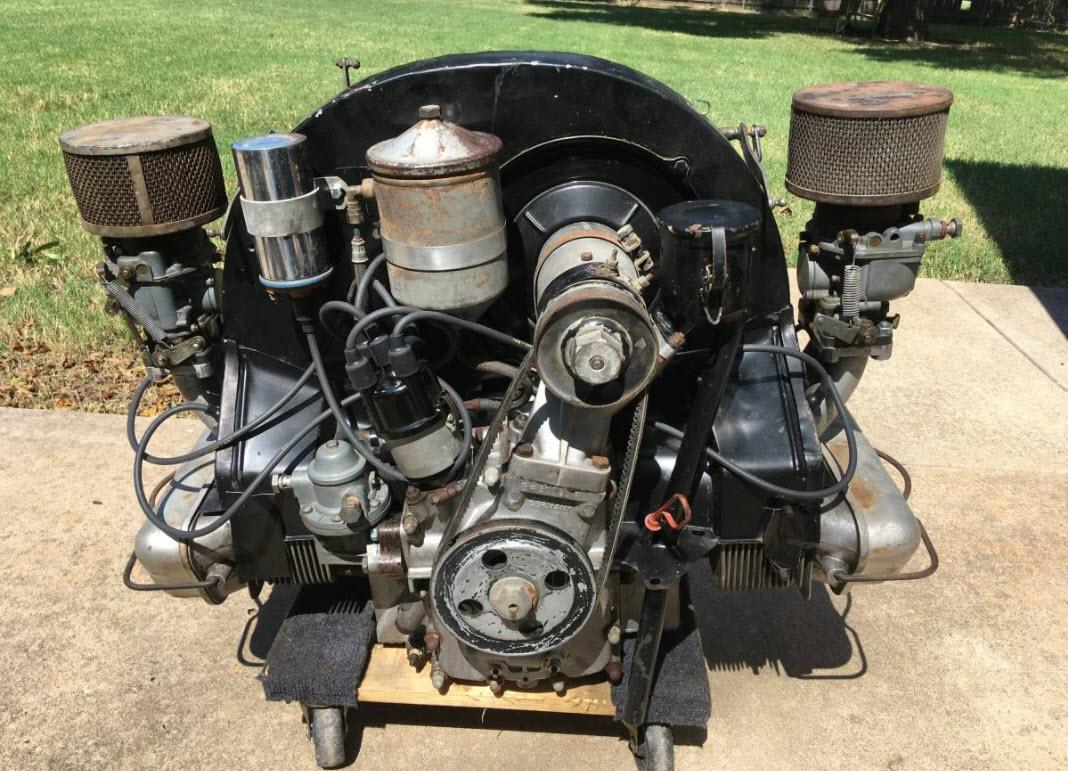 dirtyoldcars.com 1957 Porsche 356A 1600S Engine 7