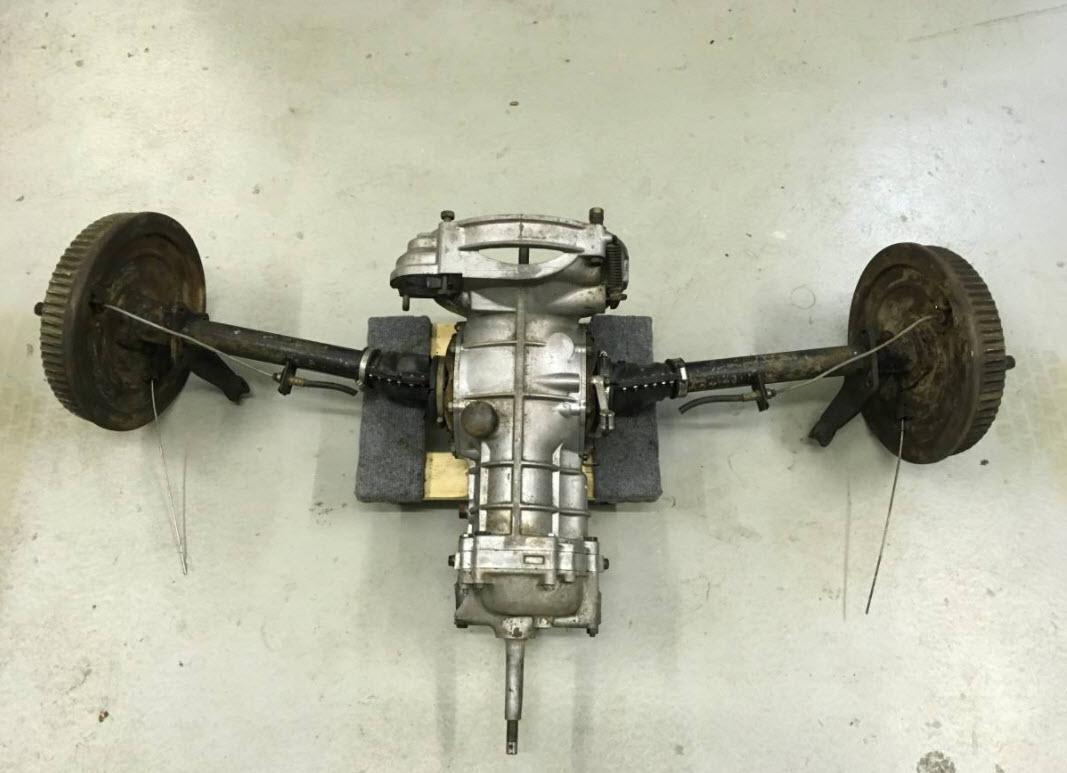 dirtyoldcars.com 1957 Porsche 356A 1600S Engine 4