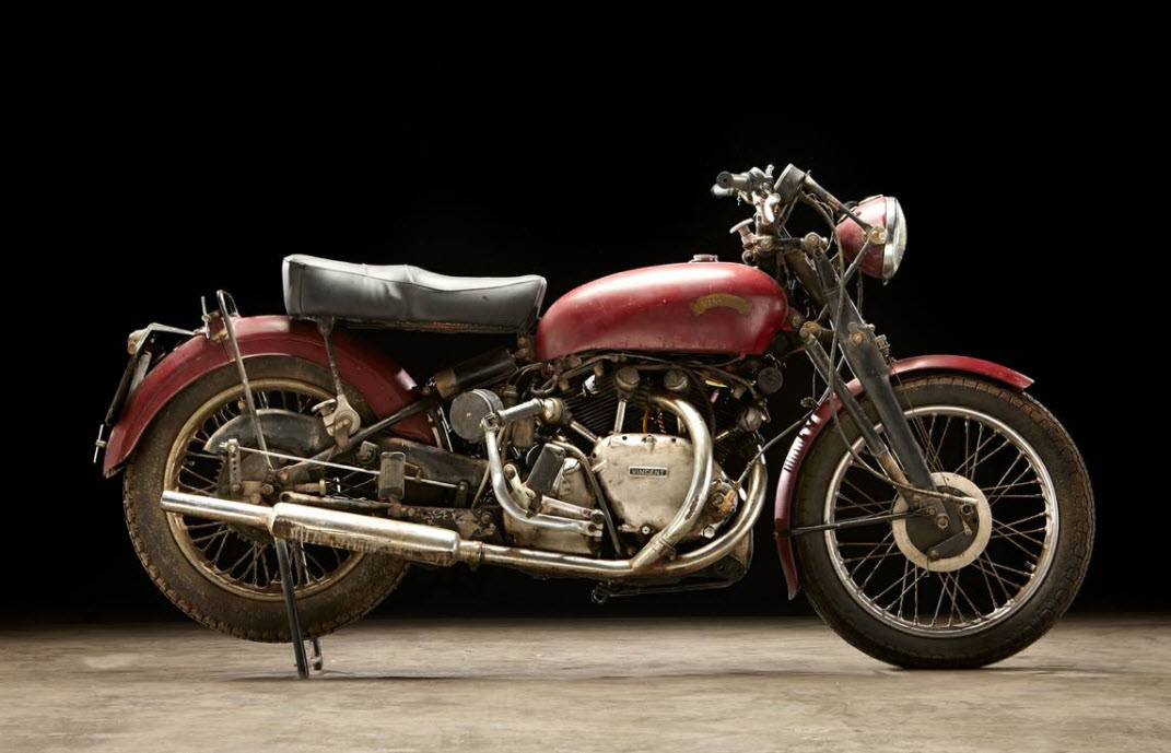 dirtyoldcars.com 1952 Vincent Series C Touring Rapide Found in Ojai 6