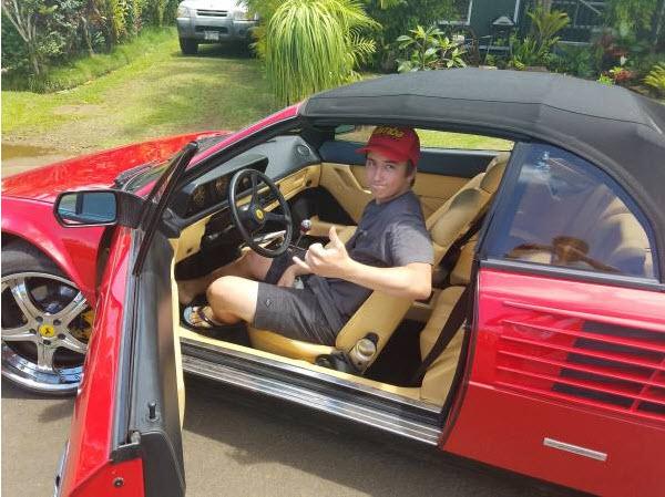 dirtyoldcars.com 1986 Ferrari Mondial Convertible Found in Kilauea 2