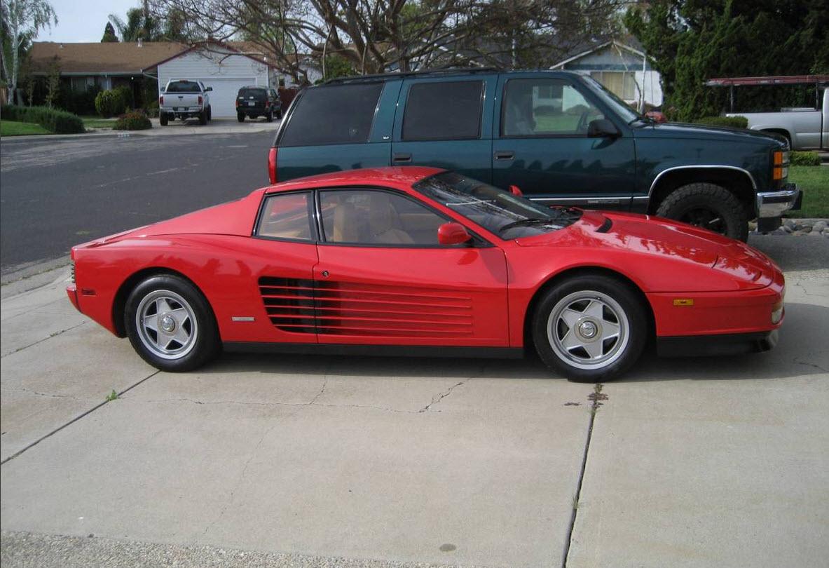 dirtyoldcars.com 1988 Ferrari Testarossa Found in San Francisco 2