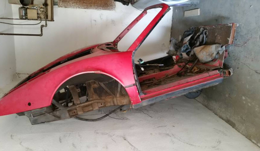 dirtyoldcars.com 1977 Ferrari 308 Body Shell Found in San Bernardino 6