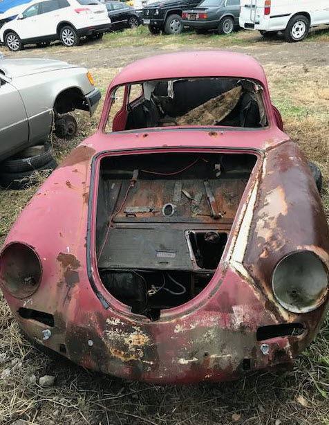 dirtyoldcars.com  1963 Porsche 356SC Shell Found in Philadelphia Pennsylvania  VIN 116439  Porsche   4
