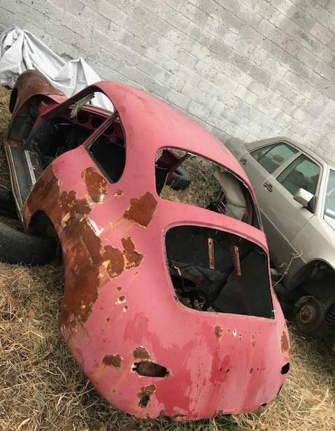 dirtyoldcars.com  1963 Porsche 356SC Shell Found in Philadelphia Pennsylvania  VIN 116439  Porsche   2