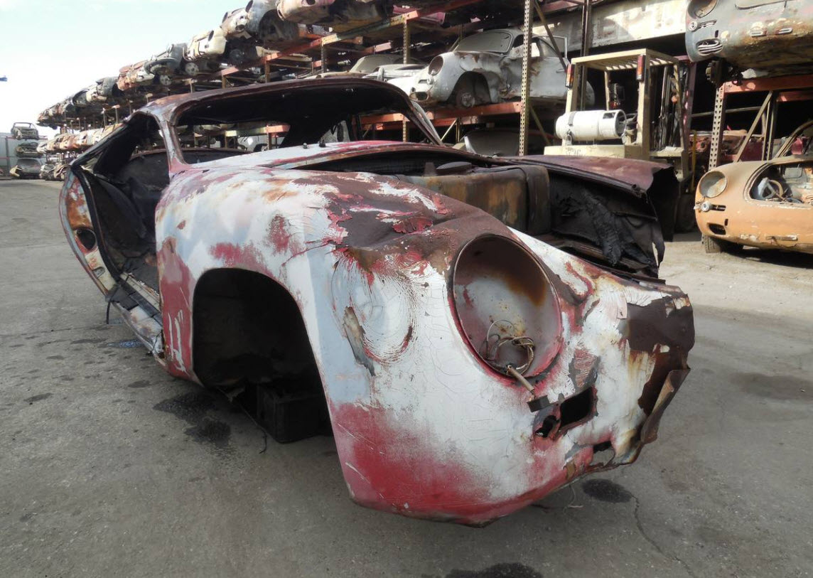 dirtyoldcars.com 1959 Porsche 356 A Coupe Project Car for Parts or Restoration 356A 9