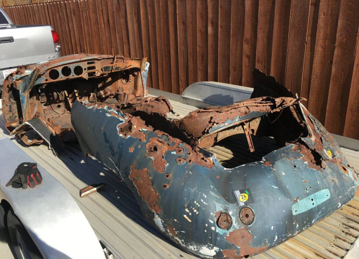 dirtyoldcars.com  1956 Porsche 356A Shell Found in Napa   7