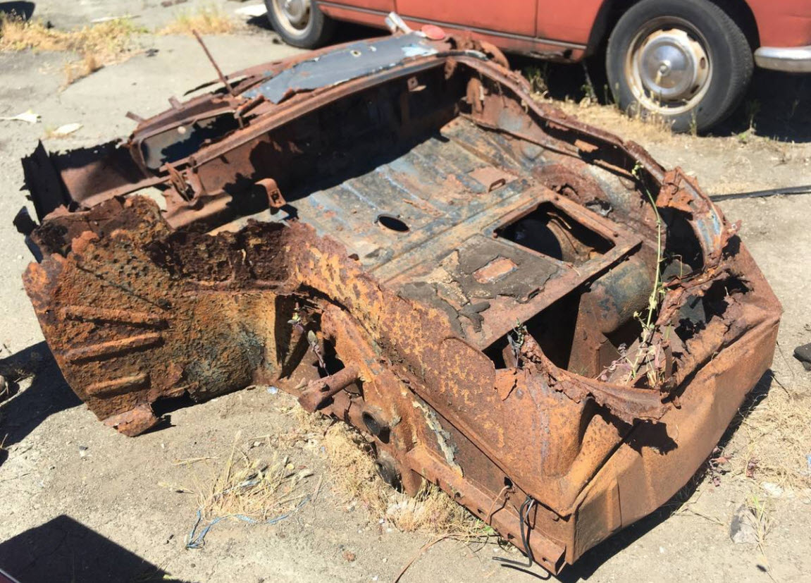 dirtyoldcars.com  1956 Porsche 356A Shell Found in Napa   6
