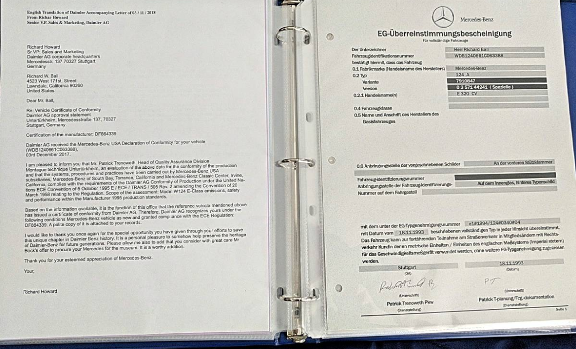 dirtyoldcars.com  1994 Mercedes E320 AMG Cabriolet Found in Redondo Beach Calfiornia  2