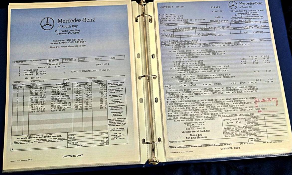 dirtyoldcars.com  1994 Mercedes E320 AMG Cabriolet Found in Redondo Beach Calfiornia  3