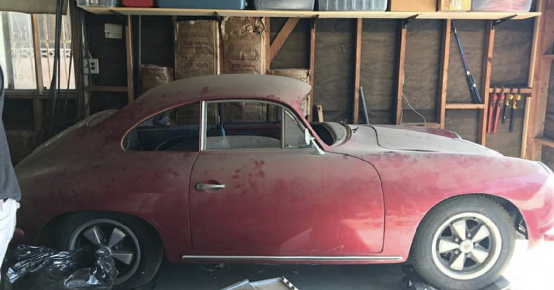 dirtyoldcars.com 1960 Porsche 356 Super Found in Long Beach 6