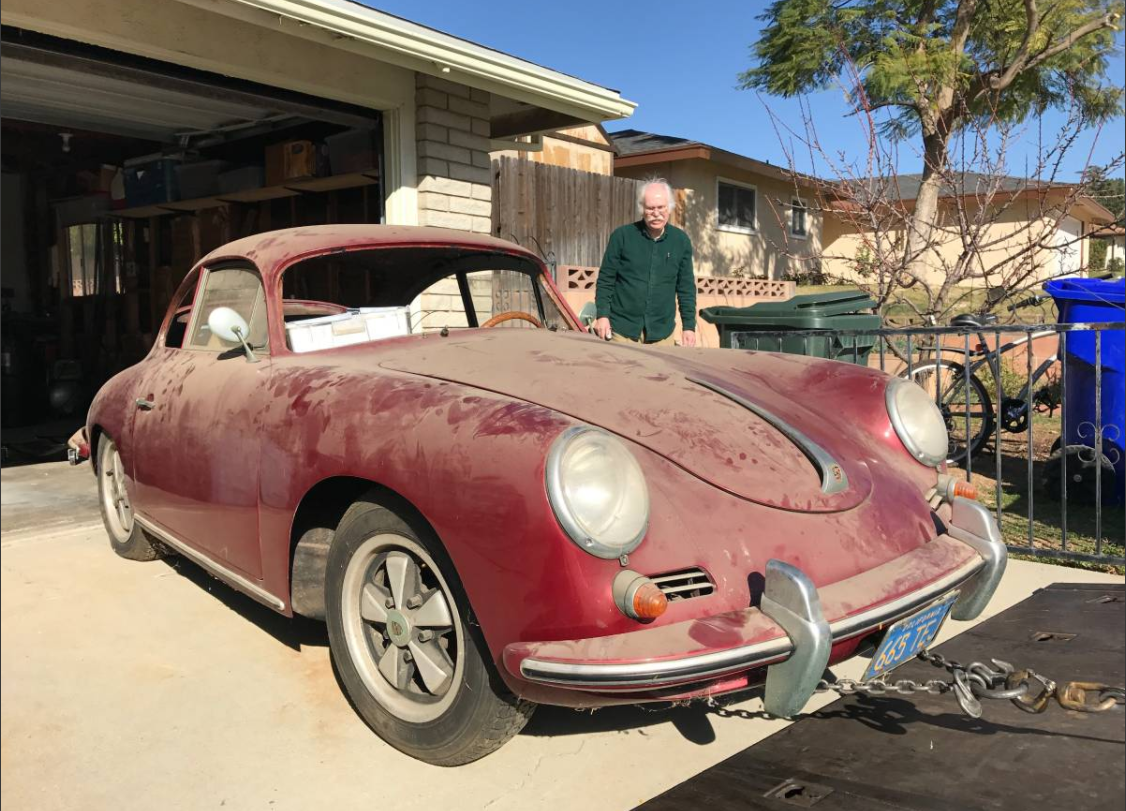 dirtyoldcars.com 1960 Porsche 356 Super Found in Long Beach 4