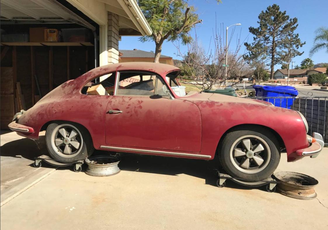 dirtyoldcars.com 1960 Porsche 356 Super Found in Long Beach 3