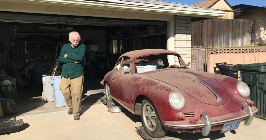 dirtyoldcars.com 1960 Porsche 356 Super Found in Long Beach 7