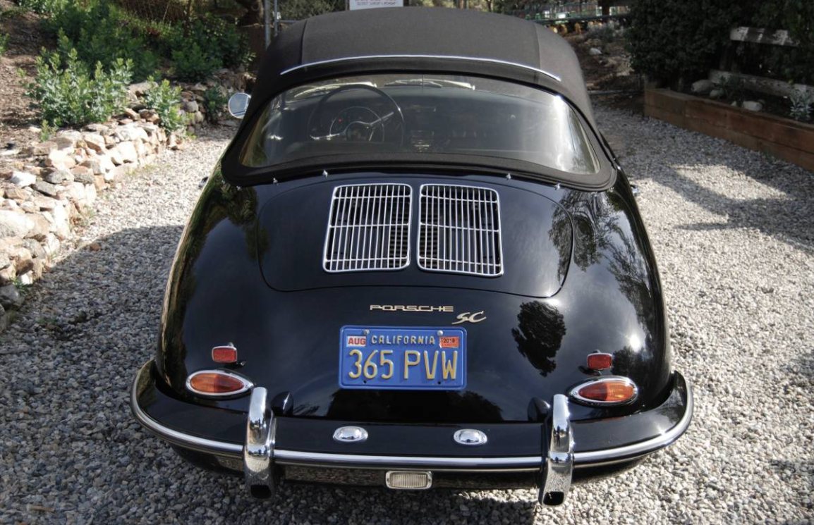 dirtyoldcars.com 1965 Porsche 356C Cabriolet Found in Studio City 5