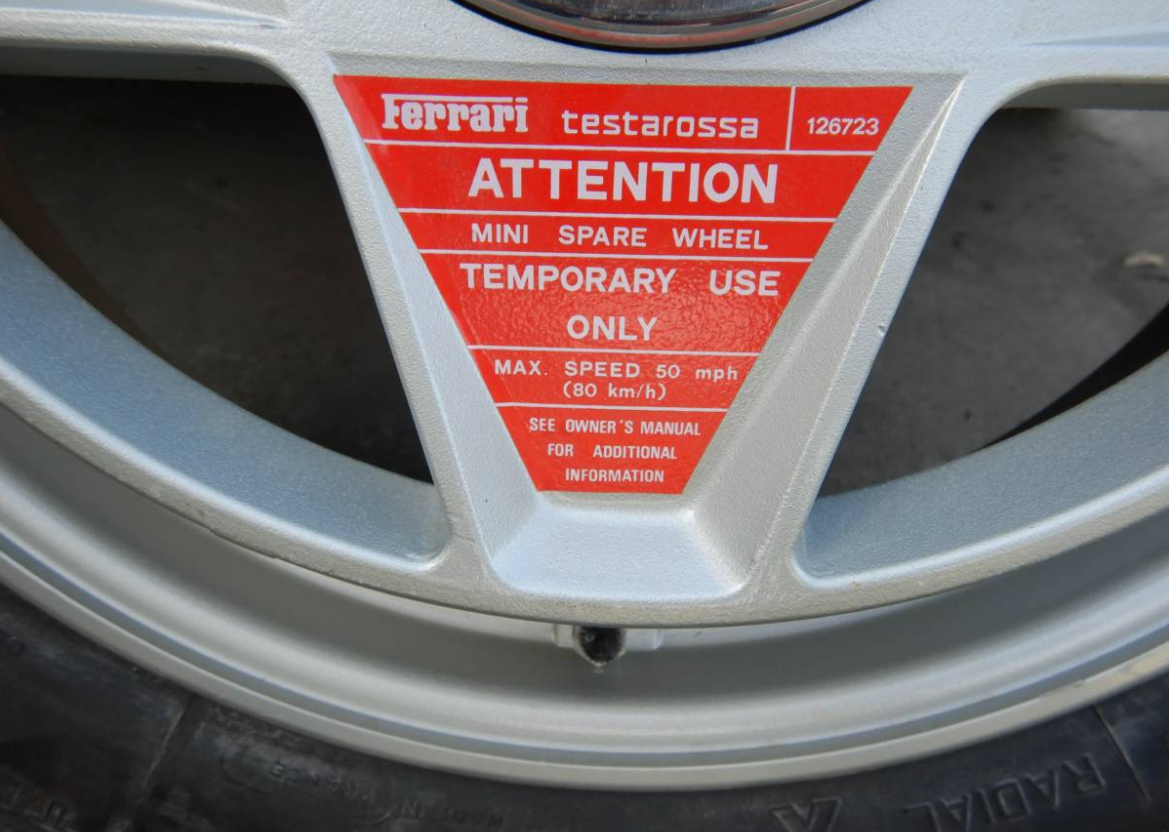 dirtyoldcars.com   Ferrari Testarossa Center Lug Spare Wheel Found in Los Angeles   4