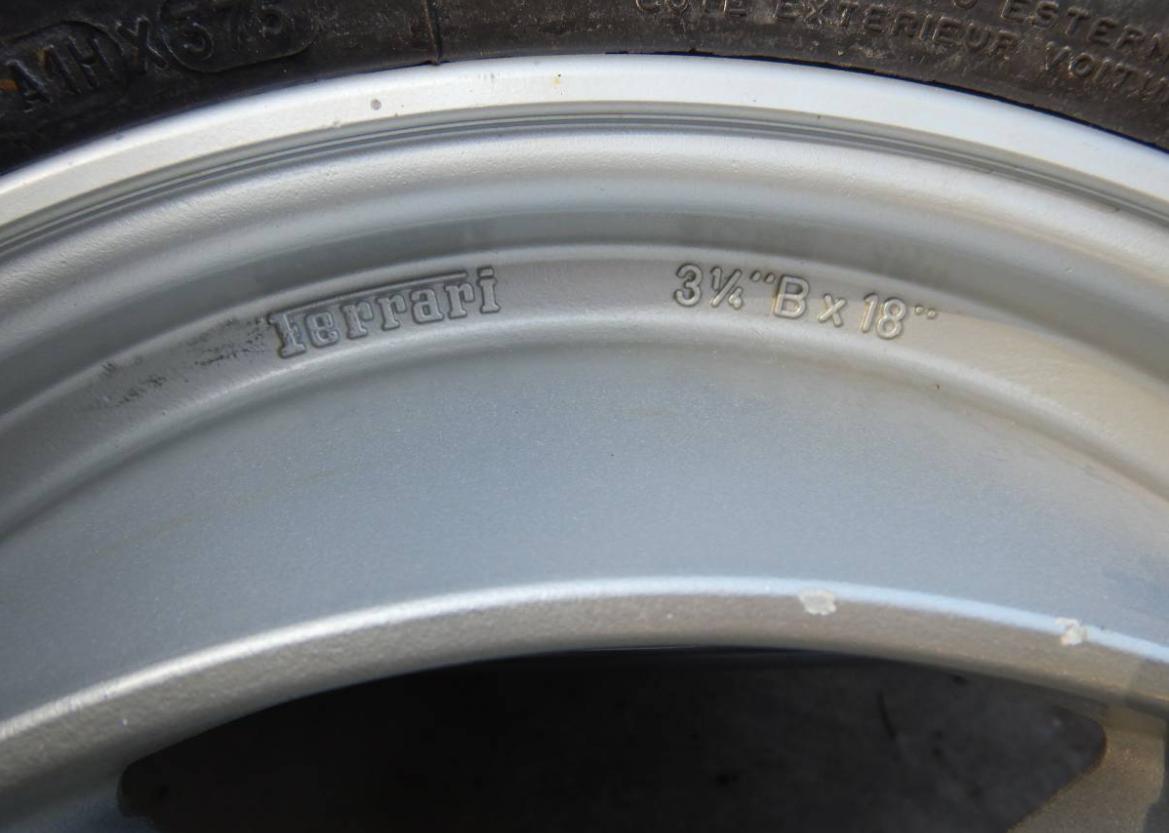 dirtyoldcars.com   Ferrari Testarossa Center Lug Spare Wheel Found in Los Angeles   3