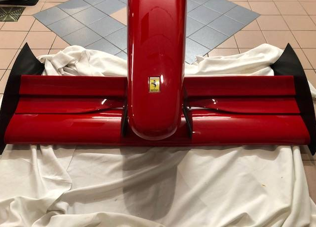 dirtyoldcars.com Ferrari Formula One F93A Front Nose Cone Found in Cohasset Massachusetts 4