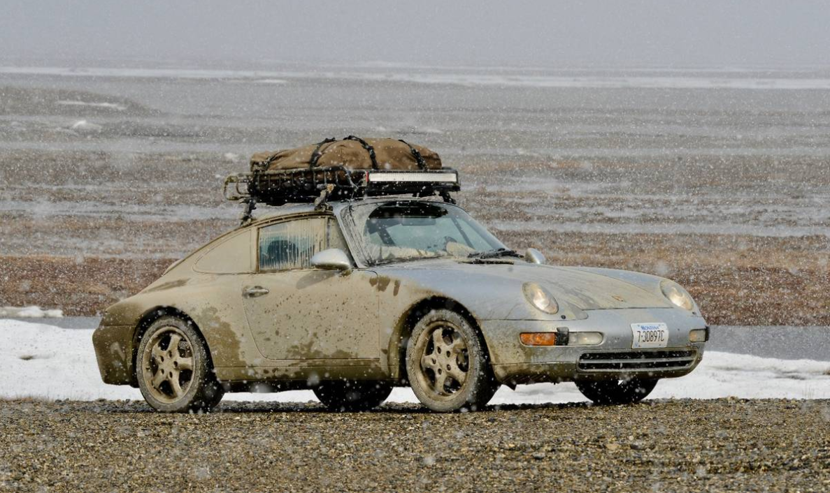 dirtyoldcars.com 1995 Porsche 993 LA to Alaska Trek For Sale 14