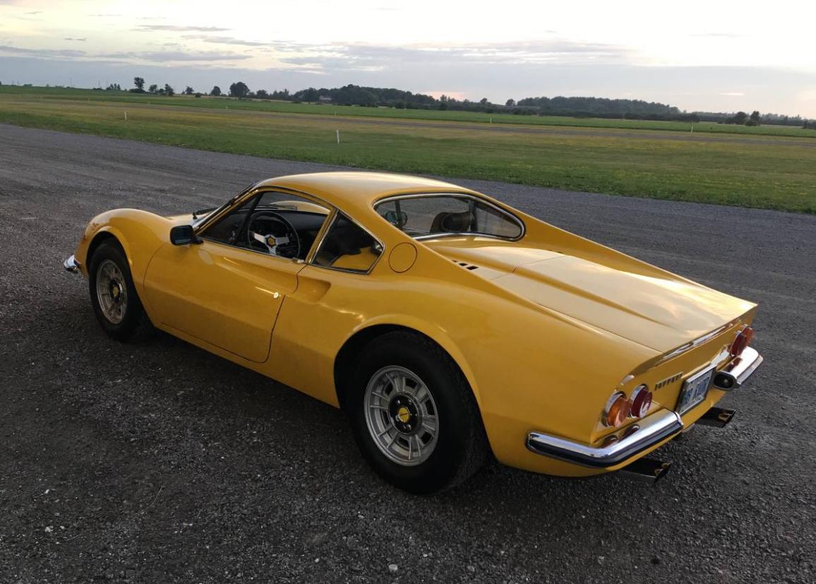 dirtyoldcars.com 1971 Ferrari 246 GT M Series Found in Niagara Falls 2