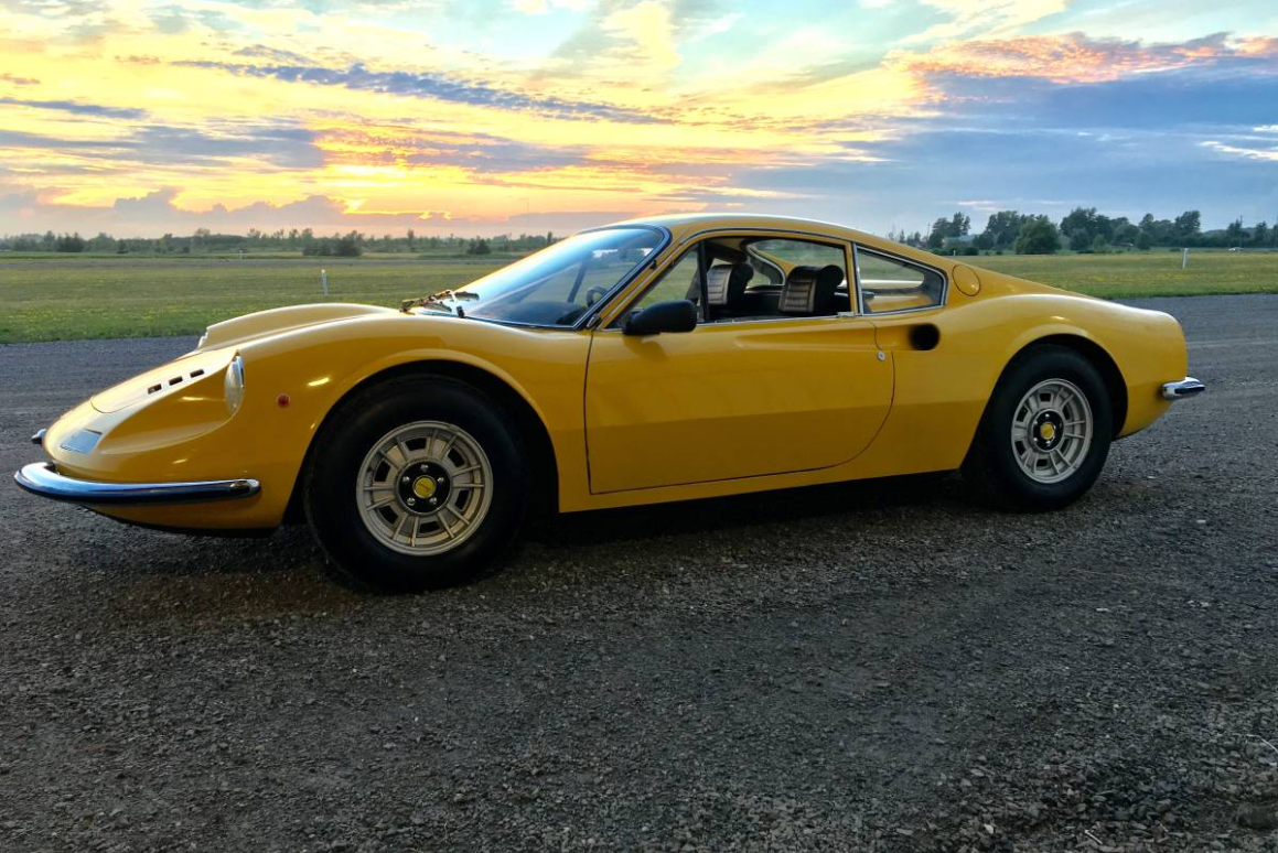 dirtyoldcars.com 1971 Ferrari 246 GT M Series Found in Niagara Falls 1