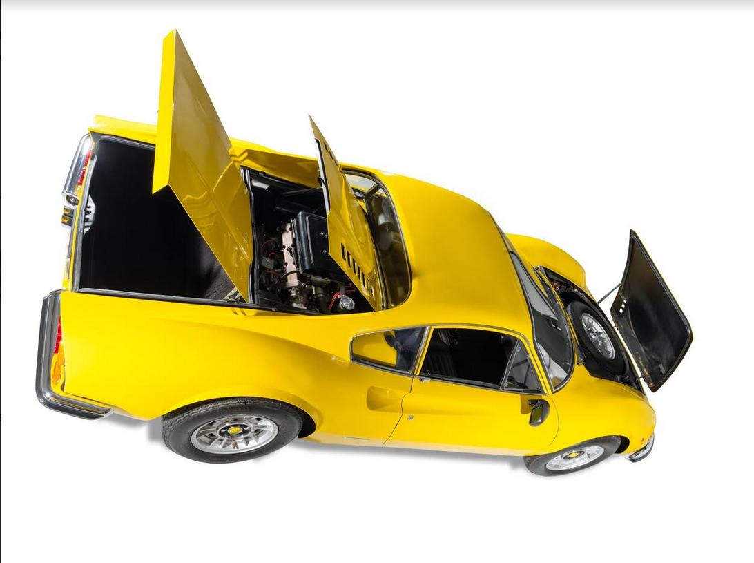 dirtyoldcars.com 1971 Ferrari 246 GT M Series Found in Niagara Falls   6