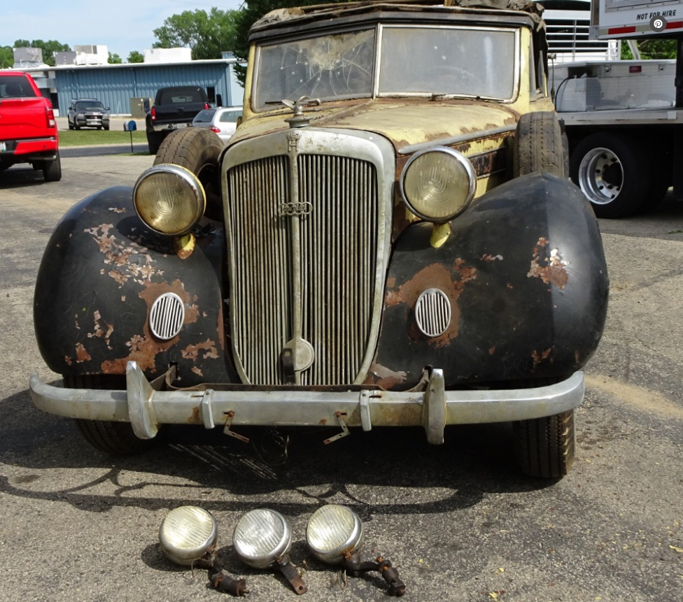 dirtyoldcars.com  1937 Horch 930 V Cabriolet Found in New York   3
