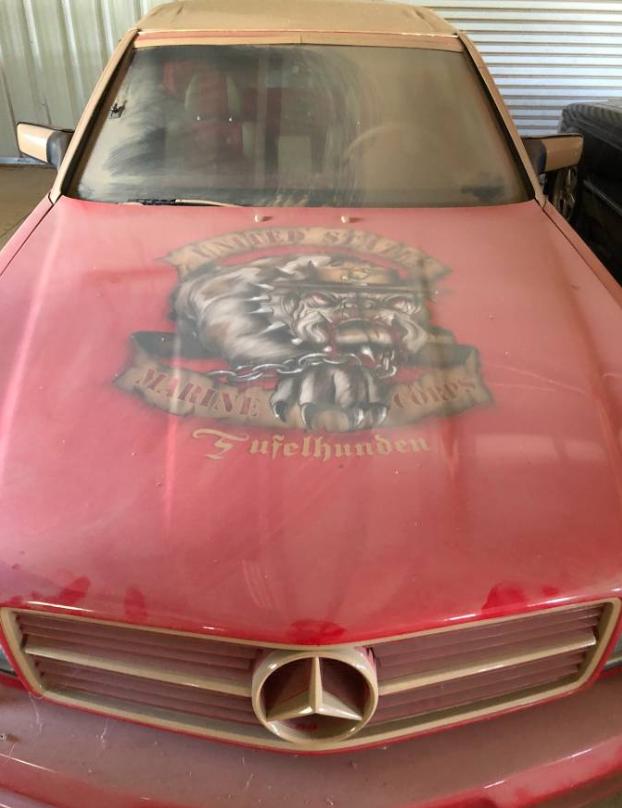 dirtyoldcars.com Custom 1986 Mercedes 560SEC R. Lee Ermey Found in Palmdale 6