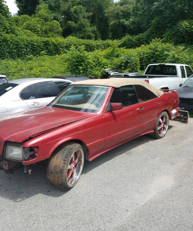 dirtyoldcars.com  1984 Mercedes 560SEC Convertible Project Found in Austell  4