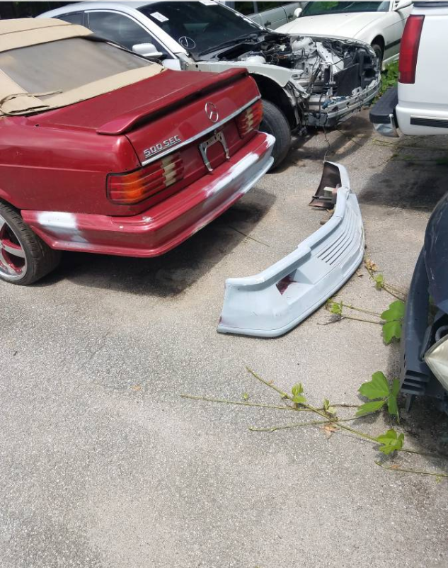 dirtyoldcars.com  1984 Mercedes 560SEC Convertible Project Found in Austell  2