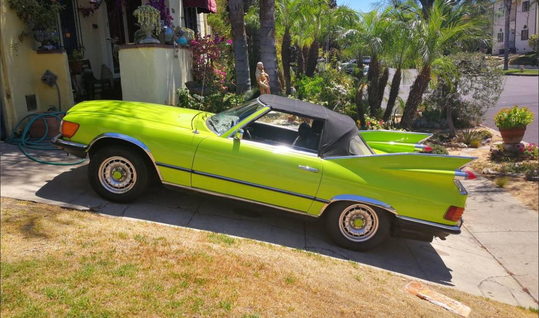 dirtyoldcars.com 1973 Mercedes 450SLC Mercedillac Found in Hollywood 7