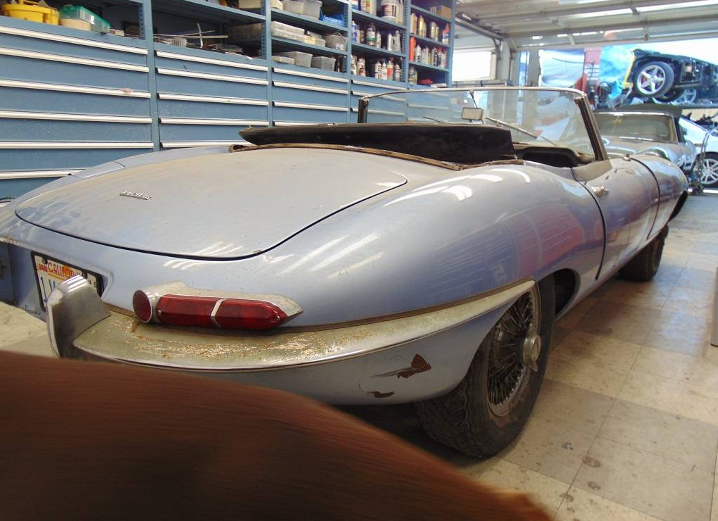 dirtyoldcars.com  1964 Jaguar E-Type Roadster Found in San Francisco   8